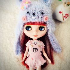 Cute Pink Overalls Suspender Trousers Embroider Shorts Rabbit T-shirt Tops Clothes For Blythe Dolls by cherryblythe on Etsy https://www.etsy.com/listing/499679213/cute-pink-overalls-suspender-trousers