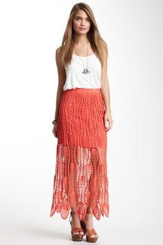 Couture Crochet Skirt by Romeo & Juliet Couture on @HauteLook 85% off