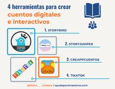 AYUDA PARA MAESTROS: 4 herramientas para crear cuentos digitales e inte... English Time, Preschool Class, Study Tips, Classroom, Social Media, App, Technology, Teaching, Activities