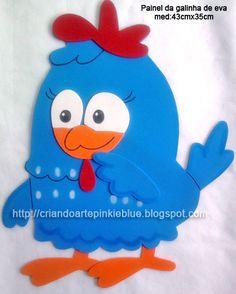 Pinkie Blue Artigos para festa: Painel de e.v.a da  Galinha pintadinha e pintinho