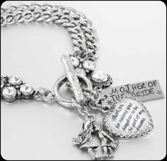 Personalized Mother of the Bride Bracelet by BlackberryDesigns, $86.00