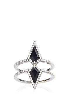 The Double Ezzat Ring by Eva Fehren for Preorder on Moda Operandi