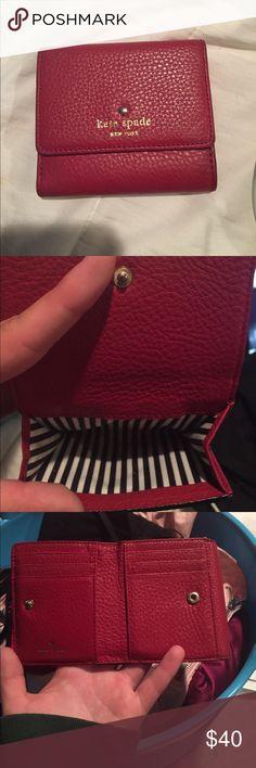 Kate Spade wallet Compact, red, Kate Spade wallet kate spade Bags Wallets