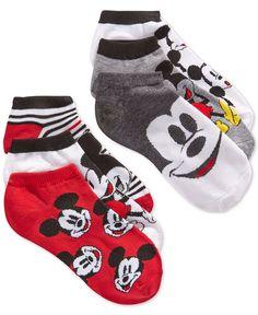 Disney Women's Mickey No-Show Ankle Socks 6 Pack - Handbags & Accessories - Macy's