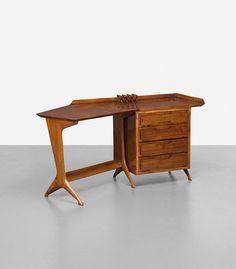 Ico and Luisa Parisi, rare desk from Casa Cesare Larini, Como.