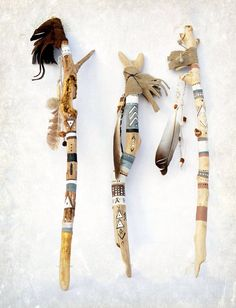 Your place to buy and sell all things handmade Handpainted Talking Stick Painted Driftwood, Driftwood Art, Tribal Home Decor, Talking Sticks, Spirit Sticks, Trailer Decor, Driftwood Projects, Stick Art, Painted Sticks