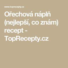 Ořechová náplň (nejlepší, co znám) recept - TopRecepty.cz