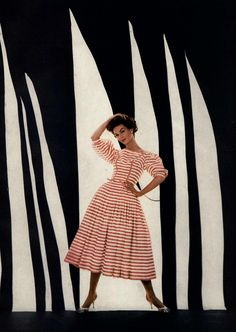 ~Photo by Richard Avedon, April 1957, Evening Prettiness: Made To Order,  Editorial Harper's Bazaar~