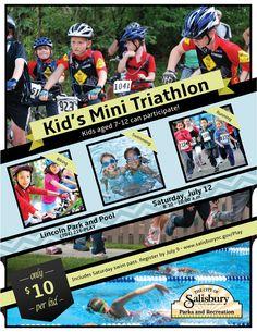 Kids Mini Triathlon on Saturday, July 12.