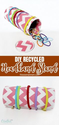 This headband organizer is perfect to keep clutter at bay and an easy way to spot and access all your headbands.   #easypeasycreativeideas #recycled #recycling #recycledcrafts #crafts #crafting #organizer #headbandorganizer #headbandholder #organize #organization Diy Recycle, Recycling, Diy Headband Holder, Recycled Crafts, Diy Crafts, Make Your Own, How To Make, Easy Peasy, Clutter