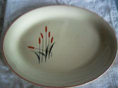 Sears & Roebuck Cattails Platter Vintage 1940s by AmeliesFarmhouse, $13.00