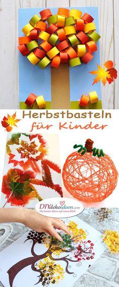 Autumn crafting for kids - Lightweight DIY crafting ideas that are fun - Kids' Crafts Cute Diy Crafts, Easy Fall Crafts, Fall Crafts For Kids, Diy Arts And Crafts, Diy Crafts For Kids, Paper Crafts, Fun Diy, Summer Crafts, Diy Niños Manualidades
