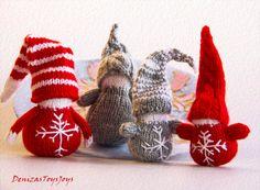 Waldorf Christmas Gnomes  pdf knitting patterns. by deniza17