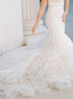 Inspiration Robe du Mariage   :    Description   Lace Inbal Dror wedding gown: Photography : Rebecca Yale Photography Read More on SMP: www.stylemepretty…    - #RobeduMariage https://madame.tn/mariage/robe-du-mariage/inspiration-robe-du-mariage-lace-inbal-dror-wedding-gown-photography-rebecca-yale-photography-read-more-o/