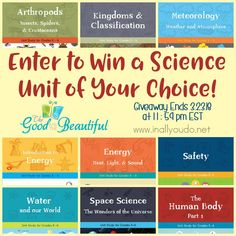 The Good & the Beautiful offers 9 different Science Units for Grades 2-6! Enter for your chance to win ONE unit of your choice thru March 23, 2018!! :: www.inallyoudo.net