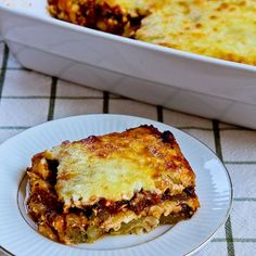 "Using grilled zucchini slices to replace the noodles makes a delicious ""Lasagna"" that's low-carb and gluten-free, plus it's a great use for those giant zucchini that spring up overnight."