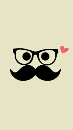 Mostacho Mustache Wallpaper, Emoji Wallpaper, Wallpaper Iphone Cute, Cellphone Wallpaper, Cute Wallpapers, Happy Fathers Day Pictures, Beard Logo, Wall Clock Design, Homemade Cards