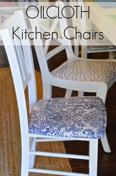 Make over kitchen chairs with durable kid-proof oilcloth!