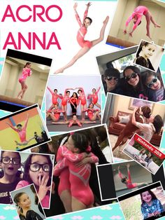 This is a collage of Annie ( Julianna ) from acroanna and bratayley