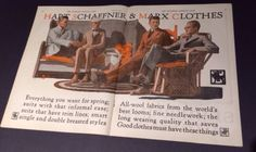 1924 Hart Schaffner & Marx Clothes Fashion 2 Page Ad Spring Suits Men | eBay