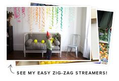 QUICK PARTY IDEA | My Party Closet: Rainbow Streamer Party/You can throw a great party with just a few things!