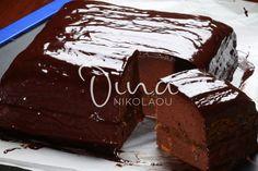 Ντίνα Νικολάου: Κέικ σοκολάτα με γλάσο σοκολάτας – Μπορείτε να το σερβίρετε σαν τούρτα!   eirinika.gr Cupcake Cakes, Cupcakes, Brownie Bar, Muffins, Food And Drink, Sweets, Cooking, Desserts, Recipes