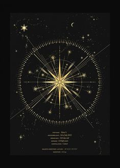 Constellations Discover Name a Star Star in the night sky personalised art print in gold foil and black paper with stars and moon by Cocorrina Constellation Tattoos, Can Lights, Star Art, Bright Stars, Moon Art, Sacred Geometry, Geometry Art, Compass Tattoo, Stars And Moon