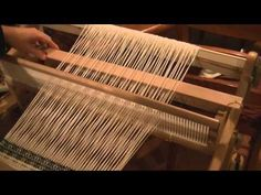Waffle weave on a rigid heddle loom - YouTube