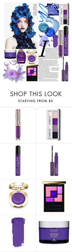 """Miss Blue. Purple Beauty"" by niahedstrom ❤ liked on Polyvore featuring beauty, Urban Decay, Clinique, NYX, By Terry, Yves Saint Laurent, Alterna and Organix"