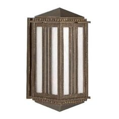 "Parisian PE4500 Series Semi Flush Wall Brackets 23.5"" Wall Lantern Finish: Patina Bronze by Melissa Lighting. $392.99. PE45515-PB Finish: Patina Bronze Features: -Wall lantern.-Opal glass panel.-Electronic ballast EBPL:13-26-32-42(four pin).-UL listed. Options: -Available in Black, White, Old Iron, Architectural Bronze, Rusty Nail, Old Bronze, Old World, Aged Silver, Patina Bronze and Old Copper finishes. Construction: -Cast aluminum construction. Specifications: -A..."