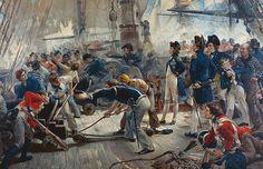 The Hero Of Trafalgar Painting