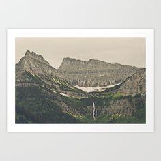 Mountain Waterfall Art Print by Kurt Rahn - $16.00