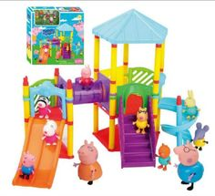 HOT Peppa Pig Big Sliding Amusement Park 10 Friends Figures Kids Toys Xmas Gift * Check this awesome product by going to the link at the image.