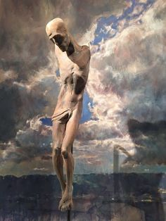 JESUS by Klaus Stuflesser   Sky by Holger Theunert Surrealism, Portrait, Painting, Nativity Sets, Sculptures, Kunst, Headshot Photography, Painting Art, Portrait Paintings
