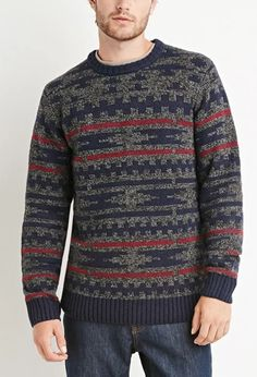 Marled Geo Pattern Sweater | 21 MEN | #forever21men
