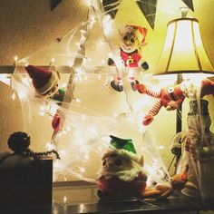 Elves got tangled up in Halloween decorations.