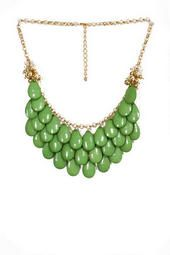 Teardrop Necklace in Dark Green