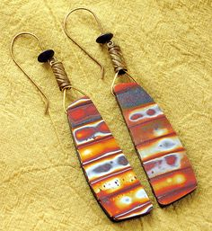 Serengeti earrings polymer clay by Stories They Tell, via Flickr - love these