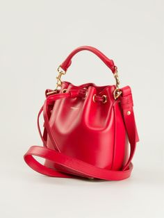 f767c789823a Saint Laurent Small Emmanuelle Bucket Bag in Red Red Bags