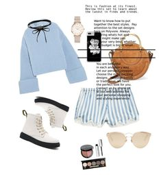 """""""💙"""" by bilaaa ❤ liked on Polyvore featuring Morgan Lane, Jil Sander, Chloé, ROSEFIELD, Christian Dior and Bobbi Brown Cosmetics"""