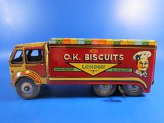 A great collectible piece - very rare! London Manchester, Tin Toys, Classic Toys, Biscuits, Van, Britain, Vintage, Cookies, Vans