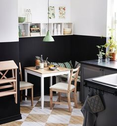 Looking for an easy way to add a little color to a room, play around with contrast and do it all in a way that will save time and use less paint than covering all the walls of a room