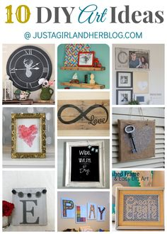 Looking for some ways to brighting up your walls? Check out these 10 Inspiring DIY Art Ideas! | Just a Girl and Her Blog