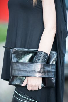 a6d3fb3da Genuine Leather Clutch Hand Bag / High Quality Clutch Bag / Black Genuine  Leather Bag / Hand Made Accessory by EUGfashion
