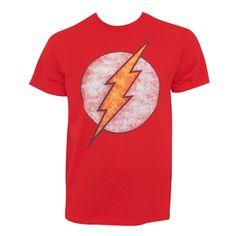The Flash Distressed Logo Tee Shirt