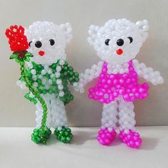 3D beading Polar Bear Spouse 2PCS Wedding anniversary Gift beadwork for kids