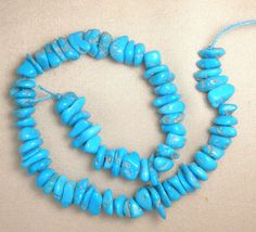 "Sleeping Beauty Turquoise 6X9mm  Loose Nugget A Grade Beads Blue 9"" Std  # 437 #SleepingBeauty #Southwest"