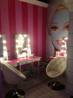 calvanx DIY Simple Makeup Room Ideas, Organizer, Storage and Decoration # decoration Dream Rooms, Dream Bedroom, Girls Bedroom, Bedroom Decor, Room Girls, Bedrooms, Barbie Bedroom, Diy Simple, Vanity Room