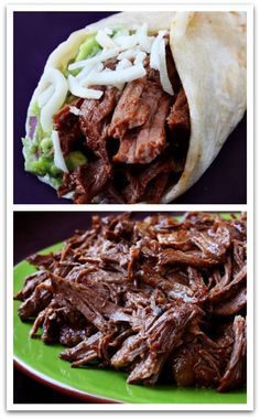 Slow Cooked Shredded Beef - Looks amazing!!
