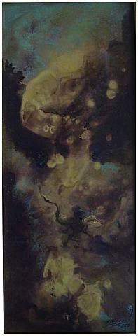 José Bernal - Title Untitled  Work Date 1967  Medium mixed media on panel  Size h: 16.5 x w: 7 in / h: 41.91 x w: 17.78 cm